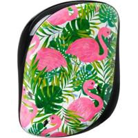 Escova Para Os Cabelos Palm Flamingocompact Style Tangle Teezer - Unissex-Verde+Rosa