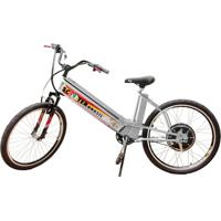 Bicicleta Elétrica Scooter Brasil Mtb 800W 48V 12Ah Prata