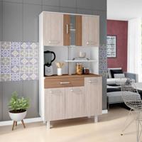 Cozinha Compacta Atenas 6 Pt 1 Gv Branco, Elmo E Montana