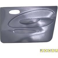Revestimento De Porta - Alternativo - Fiesta Hatch 1996 Até 2002 - Sedan 2001 Até 2004 - Moldado - Para Vidro Elétrico - 4 Portas Dianteiro - Cinza - Lado Do Passageiro - Cada (Unidade)