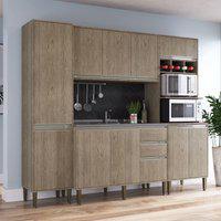Cozinha Completa Modulada Compartimento Para Bebidas 4 Peças Lilies Móveis