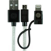 Cabo Micro Usb 1,80M Com Adaptador Para Iphone Aquarius