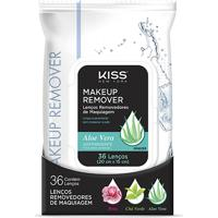 Lenço Demaquilante Kiss New York Makeup Remover Tissue Aloe 36 Unidades - Feminino