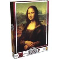 Quebra-Cabeça Leonardo Da Vinci - Monalisa - 1000 Peças - Grow - Unissex-Incolor