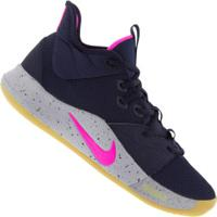 Tênis Cano Alto Nike Pg 3 - Masculino - Azul Esc/Rosa