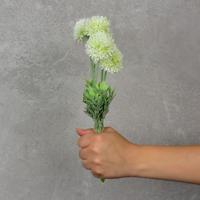 Flor Artificial Mini Dália Branca
