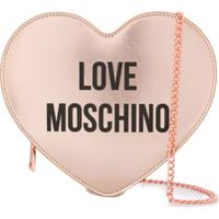 Love Moschino Bolsa Tiracolo Em Formato De Coração - Rosa