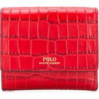 Polo Ralph Lauren Porta-Moedas Com Efeito Crocodilo - Vermelho