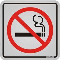 Placa De Alumínio Proibido Fumar Preto E Vermelho Sinalize