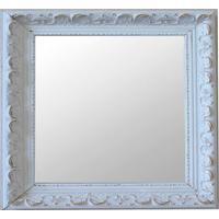 Espelho Moldura Rococó Raso 16282 Branco Patina Art Shop