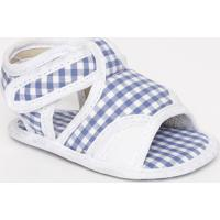 Papete Com Velcro & Recortes - Branca & Azul Royal- Tico Baby