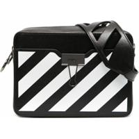 Off-White Pochete Com Estampa Diagonal - Preto