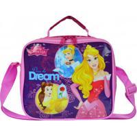 Lancheira Térmica Disney Princesa Dare To Dream Rosa