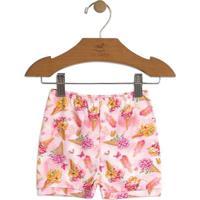 Short Floral- Rosa Claro & Amareloup Baby - Up Kids