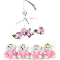 Móbile De Pelúcia - Urso Princesa - Unik Toys - Tricae