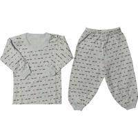 Pijama Para Bebê Em Malha Estampado - P Ao G