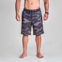 4357fae0c9c7 Netshoes; Bermuda Moletom Surty Camo Print Masculina - Masculino-Verde