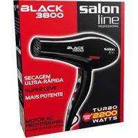 Secador De Cabelo Black Salon Line - 3800 - 2.200W - 220V Salon Line - Unissex-Preto