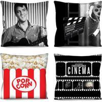 Jogo De Capas De Almofada Cinema- Preto & Branco- 4Patelie Valverde