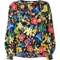 Chinti & Parker Blusa Estampada Com Modelagem Solta - Preto