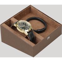 Kit De Relógio Analógico Mondaine Masculino + Pulseira - 99373Gpmvdh2K Dourado - Único