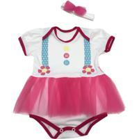 Fantasia Palhacinha Bebê - Feminino-Rosa