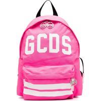 Gcds Kids Mochila Com Estampa De Logo - Rosa