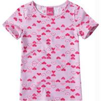 Blusa Rosa Claro Barbie® Em Cotton