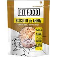 Biscoito De Arroz Fit Food Arroz Quinoa E Linhaça Com 90G 90G