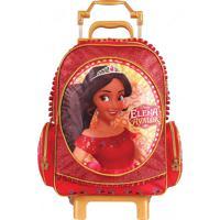 Mochila Rodinha Disney Elena De Avalor G | Cor: Vermelho