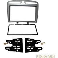 Moldura Para Central Multimídia - Peugeot 308/408 - 2 Din - Cinza - Cada (Unidade)