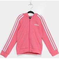Jaqueta Infantil Adidas Capuz 3 Stripes Feminina - Feminino