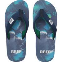Chinelo Reef Mc Clurg Ht Print-B Azul