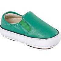 Slip On Em Couro - Verde & Brancoprints Kids