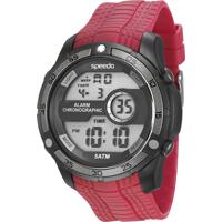 Kit De Relógio Digital Speedo Masculino + Carregador Portátil - 81147G0Evnp3K Vermelho