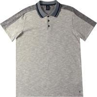 Camiseta Polo Em Malha Flamê Preto