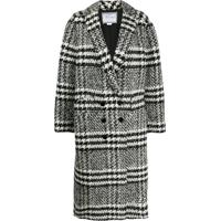 Redemption Checked Double-Breasted Coat - Preto