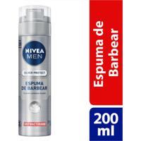 Espuma De Barbear Nivea Men Silver Protect 200Ml