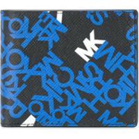 Michael Kors Collection Carteira Brooklyn Com Logo - Preto