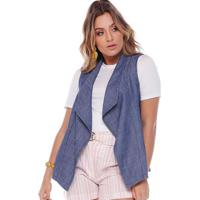 Colete Jeans Com Pontas Blue Jeans