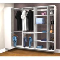 Conjunto Completo Para Closet 37 Branco - Getama Moveis