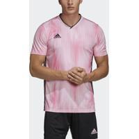 Camisa Tiro Adidas 19 Masculina - Masculino-Rosa