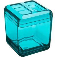 Porta Escova Cube Verde Coza