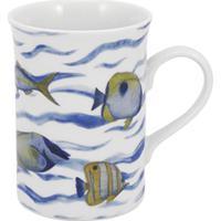 Caneca Porcelana Schmidt 240 Ml - Dec. Oceanos