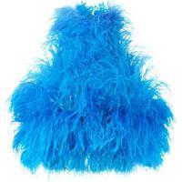 Attico Blusa Cropped Com Aplicações - Azul