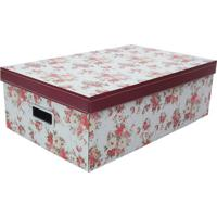 Caixa Organizadora G Flower- Vermelha & Branca- 16X3Boxmania