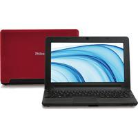 """Netbook Philco 10D-V123Lm - Vermelho - Intel Atom N2600 - Ram 2Gb - Hd 320Gb - Tela 10"""" - Linux"""