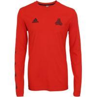 Camiseta Manga Longa Adidas Grafica Tango - Masculina - Vermelho