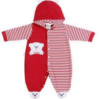 Macacão Infantil Para Bebê Menino - Vermelho