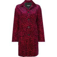 Dsquared2 Trench Coat Com Estampa De Leopardo - Rosa